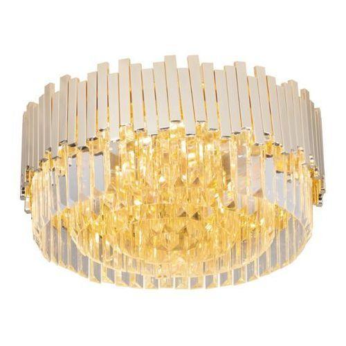Maxlight Plafon lampa sufitowa trend c0165 szklana oprawa okrągła glamour kryształki crystal złote przezroczyste (5903351003612)