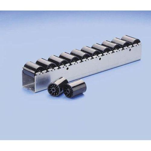 Ciężka listwa toczna z rolkami cylindrycznymi z tworzywa o Ø 46 mm, podział role marki Bito-lagertechnik