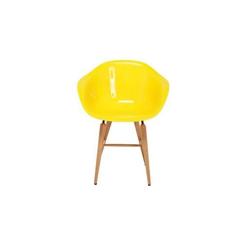 :: krzesło forum wood yellow - żółty   wood yellow marki Kare design