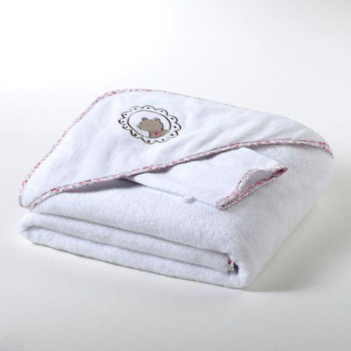 Dziecięcy ręcznik kąpielowy z kapturkiem + rękawica frotte, gramatura 400 g/m², dla dziewczynek i chłopców, betsie marki R mini
