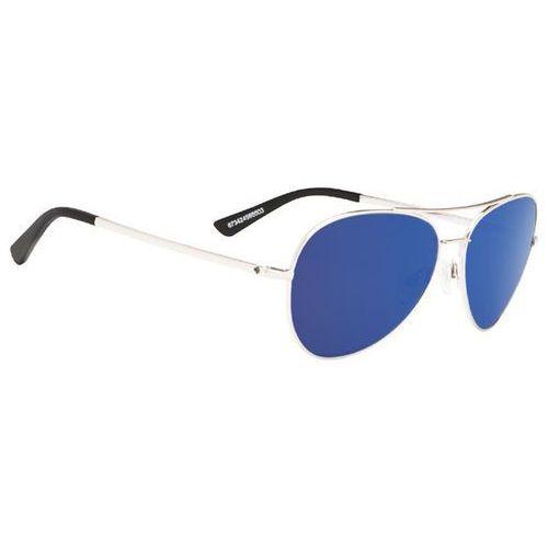 Okulary słoneczne whistler silver - happy gray green w/ dark blue spectra marki Spy