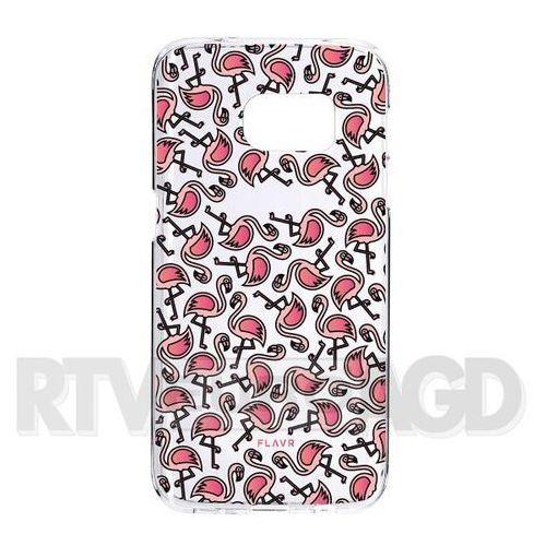 Flavr iPlate Flamingos Samsung Galaxy S7 Edge (kolorowy), kolor wielokolorowy
