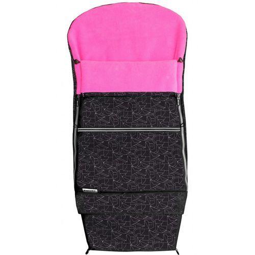 Emitex śpiworek do wózka combi extra, czarny/fuksja (8595624428627)