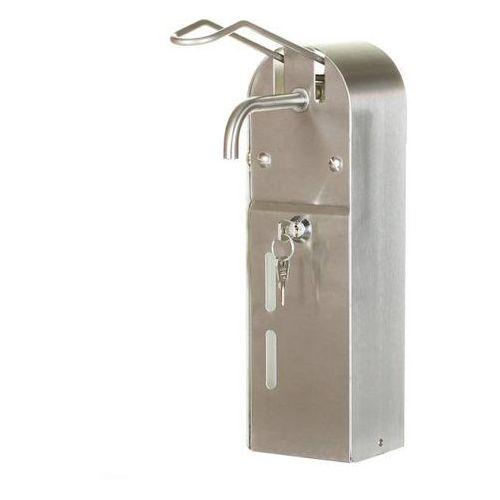 Impeco Dozownik łokciowy na mydło w płynie | stalowy | 1l | 100x100x(h)335mm