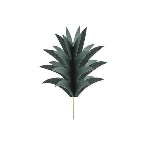 Party deco Dekoracje na muffinki aloha - liście ananasa - 6 szt.
