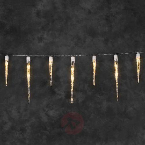 Nastrojowy łańcuch świetlny LED Sople