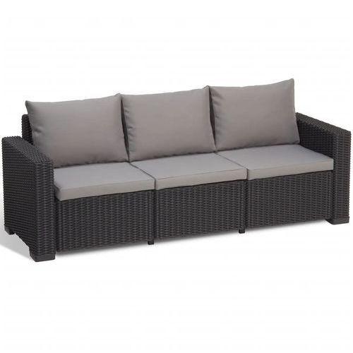 sofa ogrodowa california, 7 części, grafit, 231565 marki Allibert