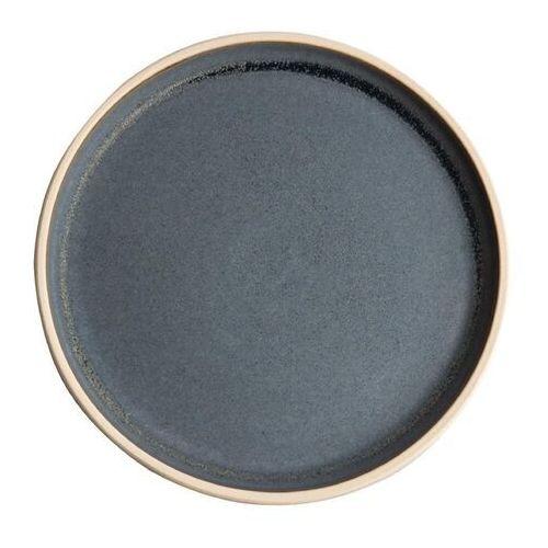 Płaski okrągły talerz, niebieski granit 250mm Olympia Canvas (Zestaw 6 sztuk)