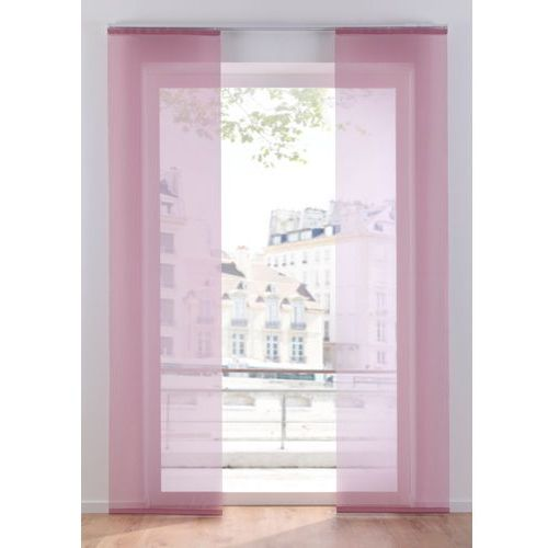 Prześwitująca zasłona panelowa, jednokolorowa (1 szt.) bonprix dymny lila