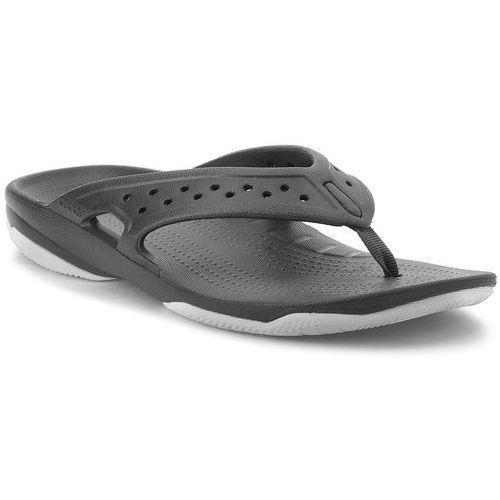 Japonki CROCS - Swiftwater Deck Flip M 204961 Black/Light Grey, kolor czarny