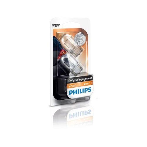 OKAZJA - ZESTAW 2x Żarówka samochodowa Philips VISION 12065B2 W21W W3x16d/21W/12V