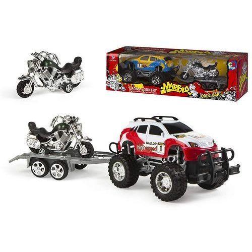 Samochód z przyczepą z motocyklem (8412842408173)