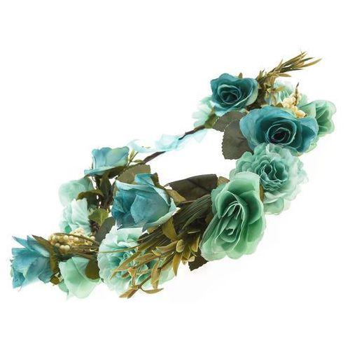 Iloko Wianek róże peonie niebieski - niebieski