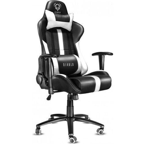 Diablo chairs Fotel x-player czarno-biały + zamów z dostawą jutro!