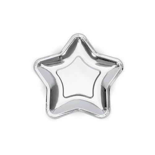 Ap Talerzyki gwiazda srebrne - 18 cm - 6 szt. (5902230734081)
