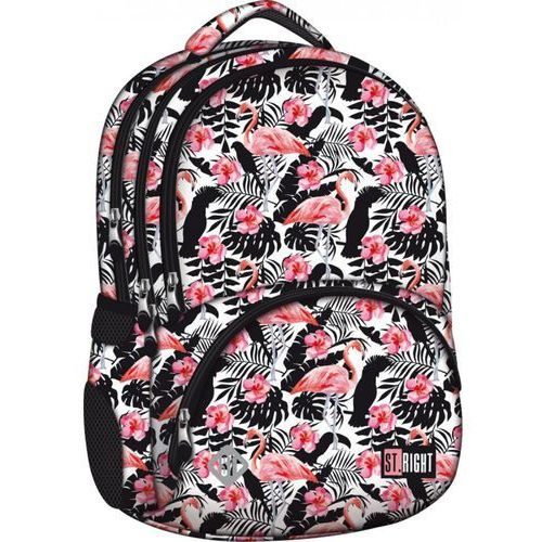 St.-majewski Plecak flamingo pink&black bp-07 st. right kieszeń termiczna