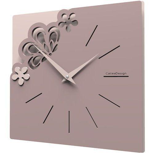 Kwadratowy zegar na ścianę merletto szara śliwka (56-10-1-34) marki Calleadesign