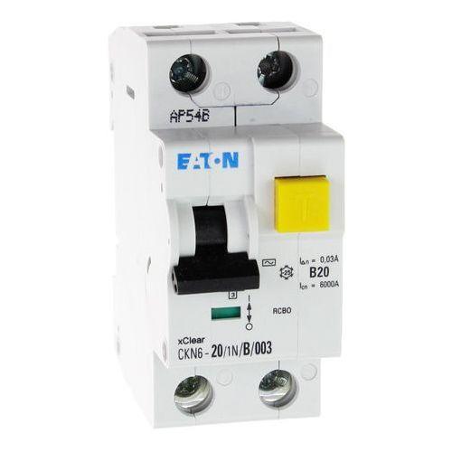 Wyłącznik różnicowoprądowy z członem nadprądowym CKN6 2P B 20A 30mA typ AC 241429 Eaton Electric (9007912200338)