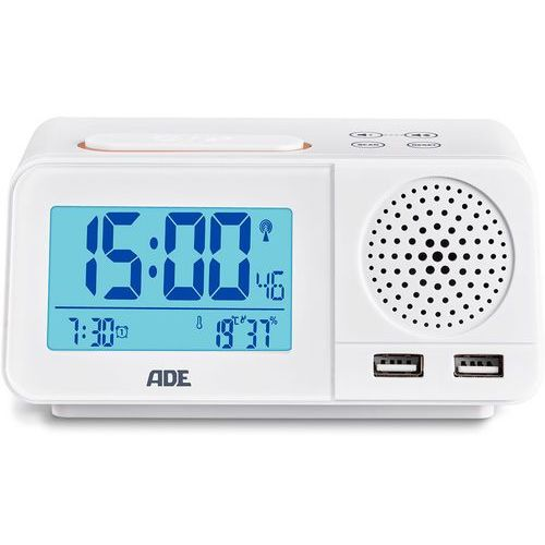 Ade Radiobudzik synchronizacja przez fale radiowe, termometr, higrometr (ad-ck 1708) (4260336176251)