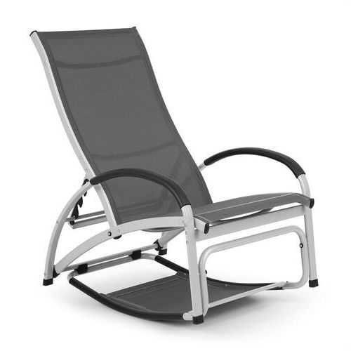beverly wood leżak fotel bujany aluminium szary marki Blumfeldt
