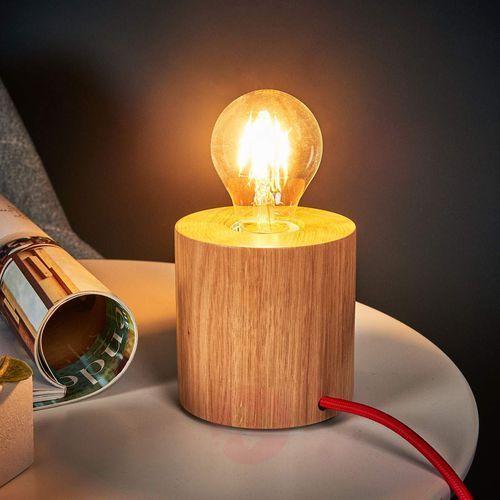 Lampa stołowa Spot Light Trongo 1x60W E27 dąb/czerwony 7071670, 7071670