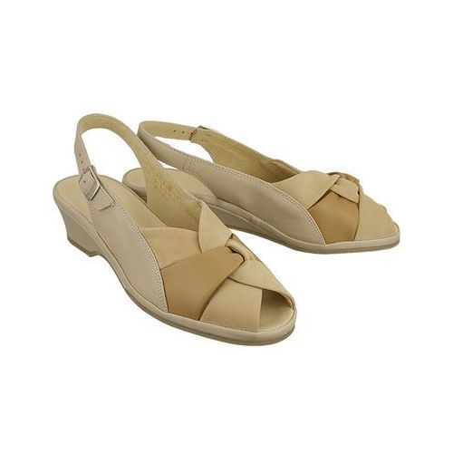 MARCO TOZZI 28910-28 beige comb, sandały damskie - Beżowy (4055161450924)