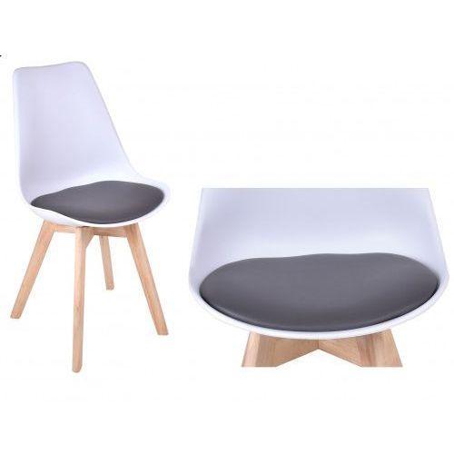 Gockowiak Krzesło nantes - biało-szary