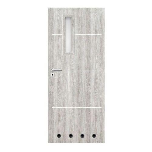 Drzwi z tulejami Nodo 70 prawe jesion szary (5903292058979)