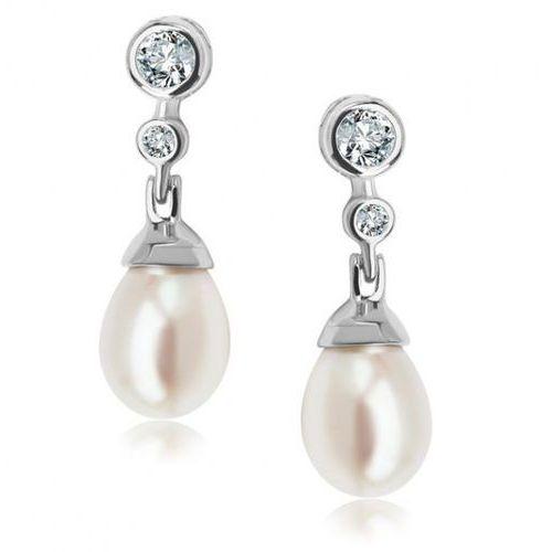 Srebrne kolczyki ksn4310 - naturalne perły hodowlane słodkowodne marki Staviori