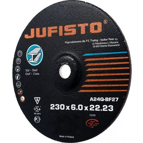Jufisto Tarcza do szlifowania  ju-tgd-2360 (230mm 1szt.)- wysyłamy do 18:30