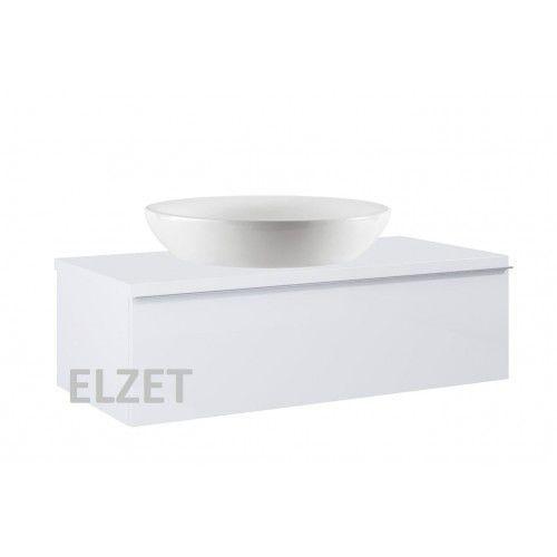 ELITA szafka Look 1S white pod umywalkę nablatową + blat 100 white 167083+166894