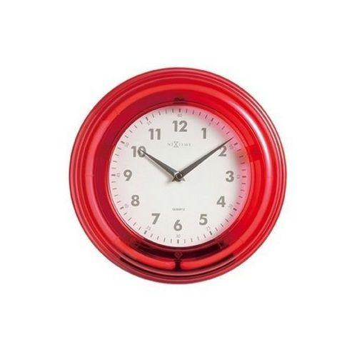 Nextime - Zegar ścienny Neon - czerwony - 28 cm