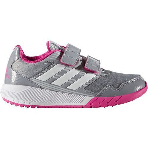 Adidas  performance altarun obuwie do biegania treningowe mid grey/white/shock pink