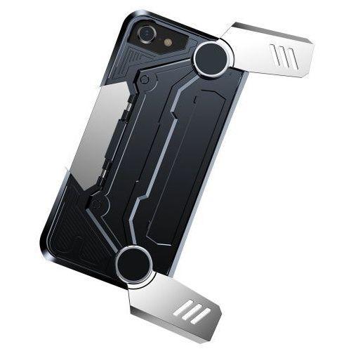 Baseus gamer gamepad case iphone 8/7 srebrne (6953156270466)