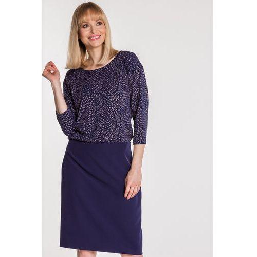 0e89b0308c Granatowa sukienka w błyszczące wzory - marki Vito vergelis