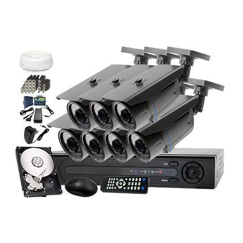 Zestaw do monitoringu: rejestrator lv-xvr84, 7 x kamera lv-al30ht+ dysk 1tb + akcesoria marki Ivelset