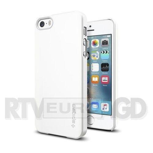 Etui Spigen iPhone SE/5S/5 Case Thin Fit Shimmery White 041CS20169, 041CS20169