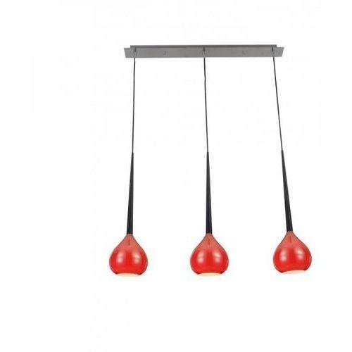 Zuma line Lampa wisząca libra 3xe14 czerwona, md2128b-3r