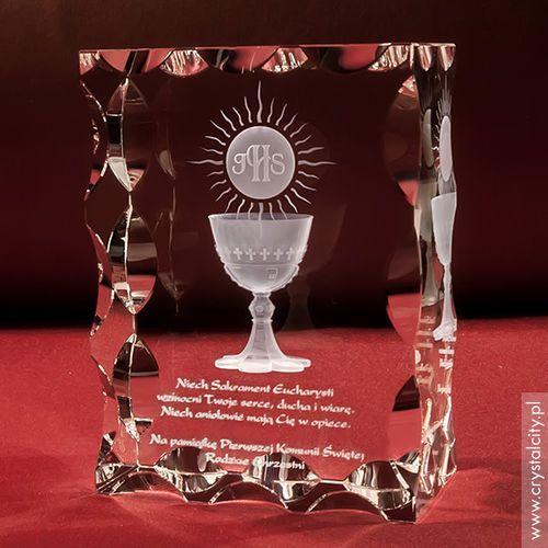 Pamiątka Komunii »hostia i kielich« duża • statuetka 3D personalizowana