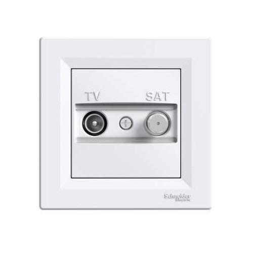 Asfora gniazdo antenowe Schneider TV-SAT przelotowe podtynkowe 4dB białe EPH3400221 (3606480526565)