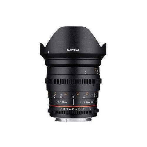 Obiektyw Samyang 20mm T1,9 VDSLR Canon (F1313501101) Darmowy odbiór w 21 miastach!, F1313501101
