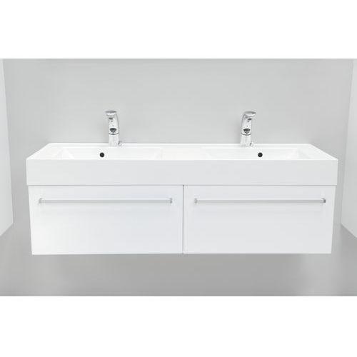 variete szafka z umywalką, wisząca 140 biały połysk fm-442/7 + fm-442/7 + unam-1404d wyprodukowany przez Antado