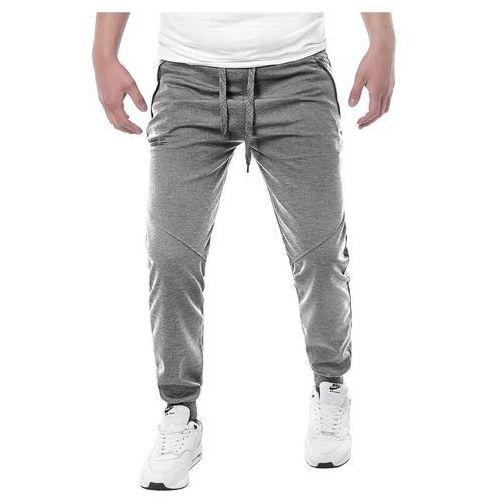 Wyprzedaż Spodnie dresowe W80031 - szare, dresowe