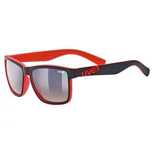 UVEX okulary lgl 39 (S3) black mat red (czarno czerwone) z szybą litemirror brown degrade, 53/2/012/2316/UNI