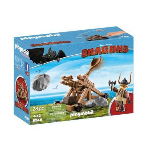 Playmobil DRAGONS Pyskacz i katapulta 9245