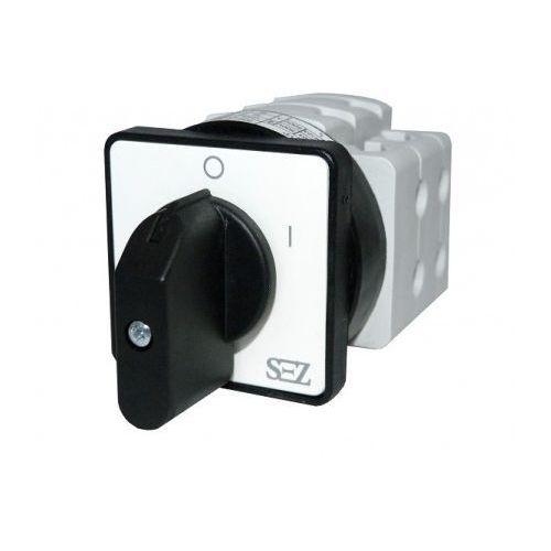 Łącznik krzywkowy 0-1 3-fazowy 16A 500V z dźwignią oraz szyldem (S16 JD 1103 A6) SEZ (8585009043323)