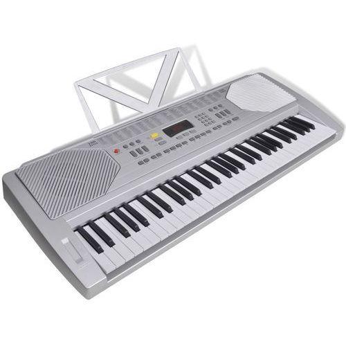 keyboard elektryczny ze stojakiem na nuty marki Vidaxl