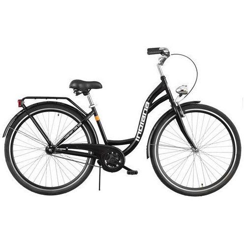 Rower INDIANA Moena S1B Czarny Połysk + DARMOWY TRANSPORT! + Zamów z DOSTAWĄ JUTRO! + 5 lat gwarancji na ramę!