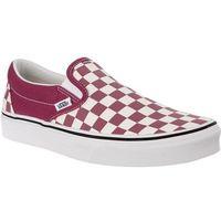 Vans CLASSIC SLIP ON U7A CHECKERBOARD DRY ROSE WHITE - Buty Sneakersy - deseń (0192360583160)