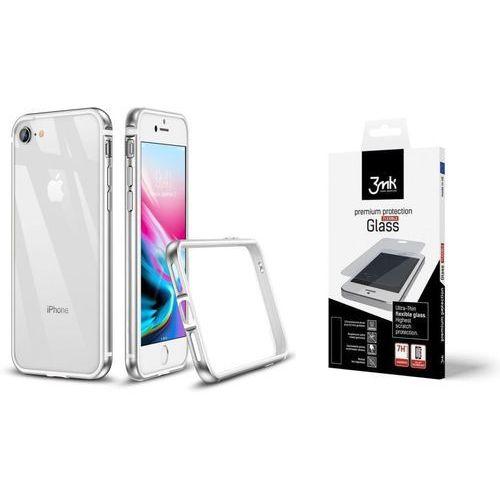 Zestaw | etui crown silver + folia 3mk flexible - iphone 7 / 8 marki Esr